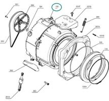 Set of Drums with Bath for Electrolux AEG Washing Machine - Part. nr. Electrolux 3484164102