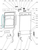 Door Side Seal for Gorenje Mora Dishwashers - 152947
