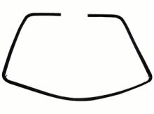 Original Door Seal for Whirlpool Indesit Ovens - 481946818109